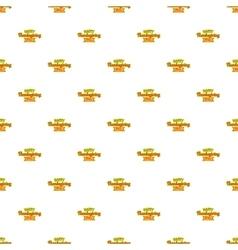 Happy Thanksgiving Day ribbon pattern vector