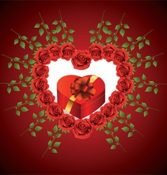 Heart from roses vector image