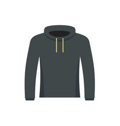 Hip hop hoodie icon flat style vector