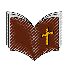 holy bible isolated icon vector image