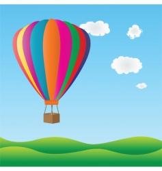 Hot air birthday balloon vector