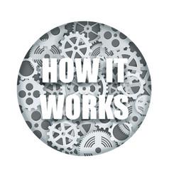 how it works clock mechanism paper cut vector image