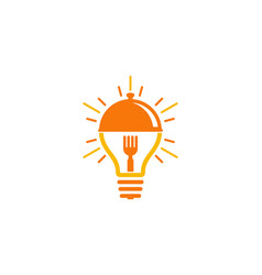 idea food logo icon design vector image