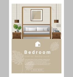 Interior design Modern bedroom banner 7 vector image