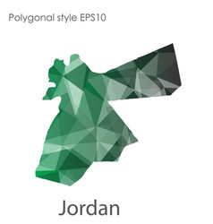 Isolated icon jordan map polygonal geometric vector