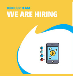 Join our team busienss company money through vector