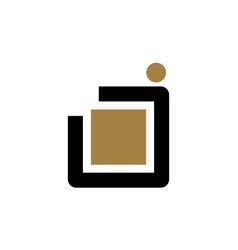 letter j modern logo vector image