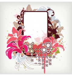 Lily frame vector