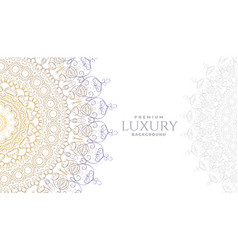 Luxury white mandala decoration background vector