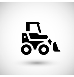 Mini earth mover icon vector image