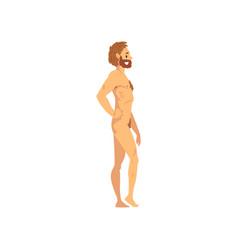 Modern man biology human evolution stage vector