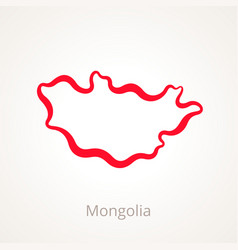 Mongolia - outline map vector
