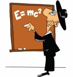 old teacher vector image