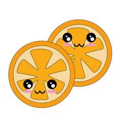 Orange slice icon vector