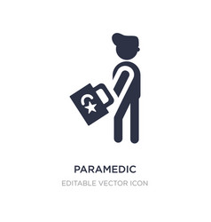 Paramedic icon on white background simple element vector