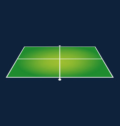 Perspective ping pong table design isolated vector