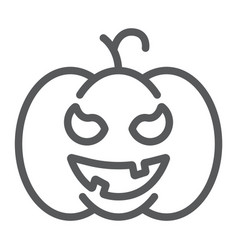 pumpkin line icon gourd and autumn squash sign vector image