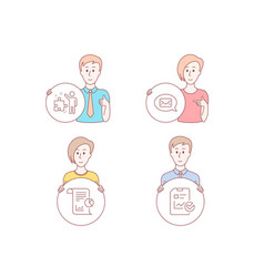 report messenger and strategy icons report vector image