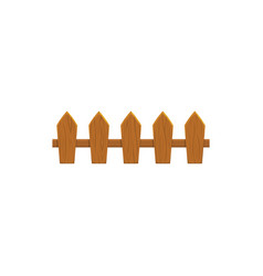 rural fence wood horse barrier realistic icon vector image
