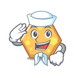 sailor hexagon character cartoon style vector image