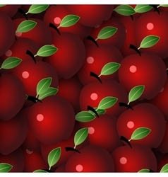 Seamless background with apples vector