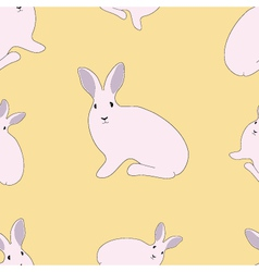 Seamless of Rabbit vector image vector image