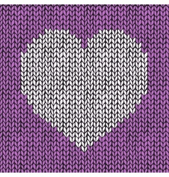 Seamless pattern with hand drawn knitted heart vector image vector image