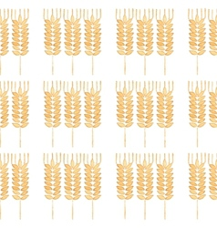 Seamless watercolor pattern with ear of wheat on vector