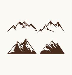 Set mountains for logo vector