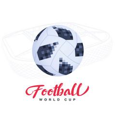 soccer ball on stadium background vector image