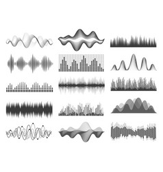 sound waves graphic music soundwave frequency vector image