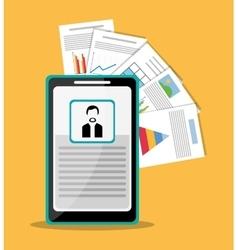 Spreadsheet smartphone infographic design vector