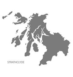 Strathclyde scotland map grey vector