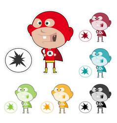 Super kid sticker vector