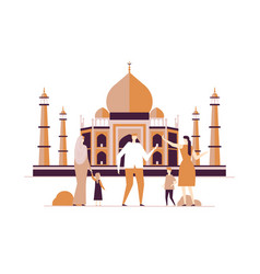 travel to india - colorful flat design style vector image