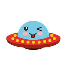 Unidentified flying object comic character vector