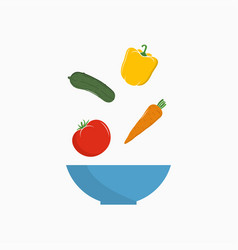 vegetables salad vector image