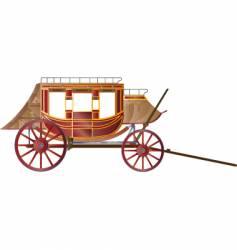 vintage coach vector image vector image