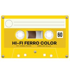 Vintage technology audio cassette vector