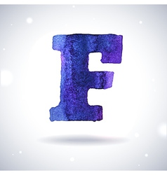 Watercolor letter F vector image