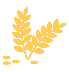 wheat hand drawn design on white background vector image