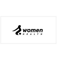 women health logo design inspiration vector image