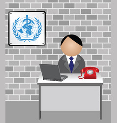 World health organization spokesman vector