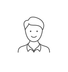 young man line outline icon vector image
