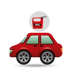 car gallon oil red icon vector image