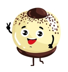 Funny cake isolated cartoon character vector image vector image