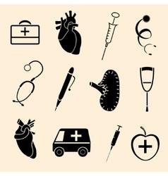 human organs icons vector image