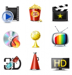 movie icons   bella series vector image vector image