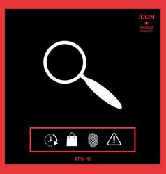 search icon vector image vector image