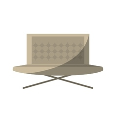 sofa furniture house relax shadow vector image
